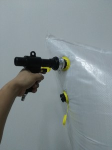 HS-1013B Lockable system gun air inflator  for dunnage bag with matal head