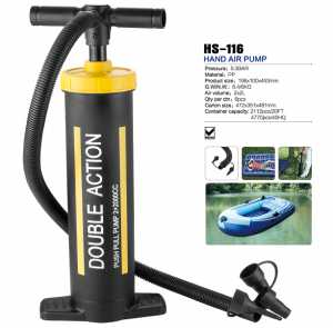 HS-116 double action hand air pump for inflatable air bed and boat