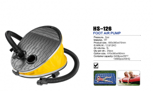 HS-126 foot air pump for inflatable boat