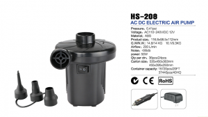 HS-208 AC and DC electric air pump
