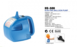 HS-506 electric balloon air pump