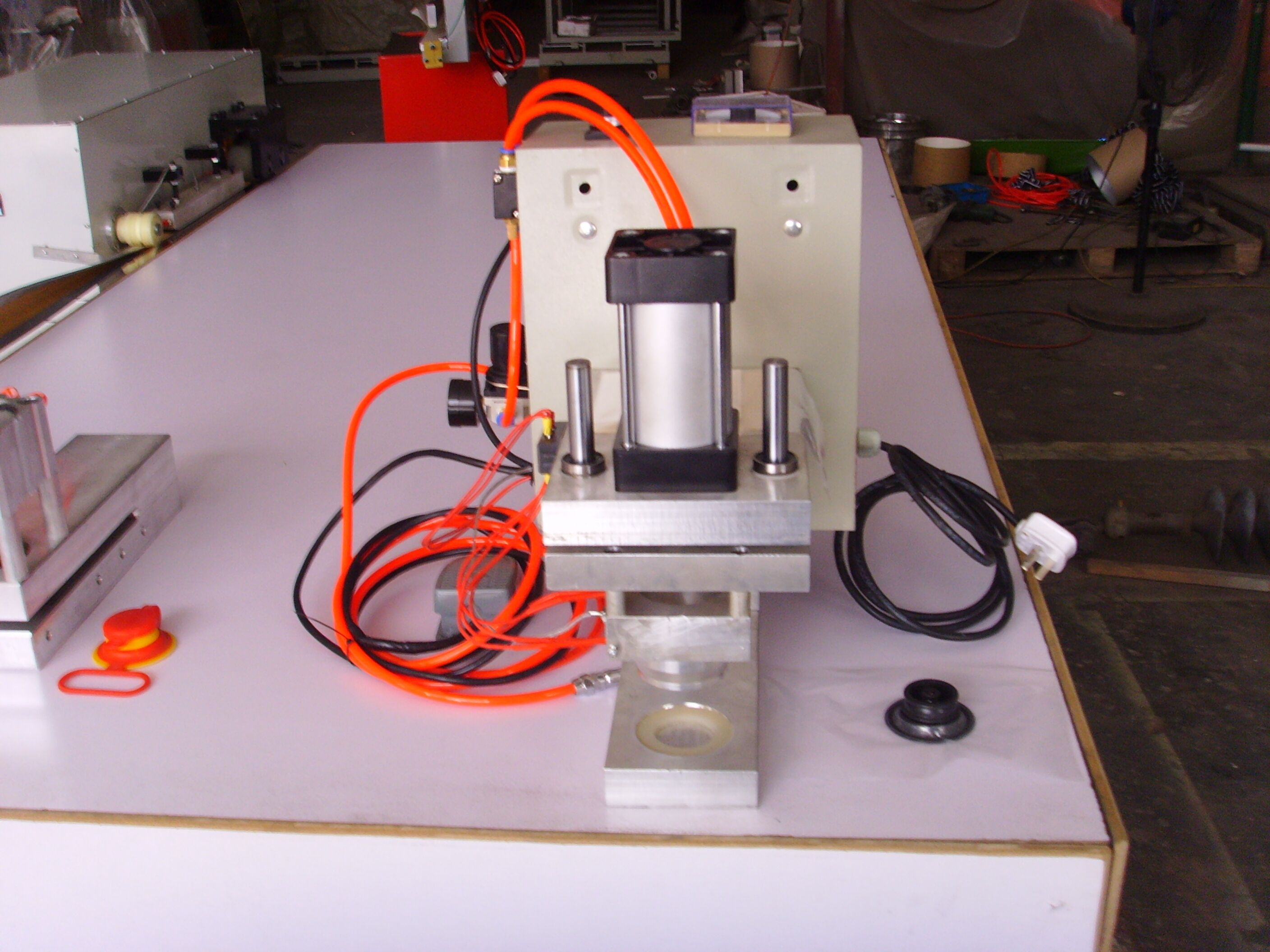 HS-MC004A mini dunnage bag valve sealing machine for dunnage bag